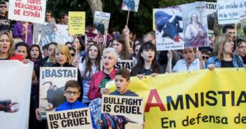 Las protestas contra las corridas de toros